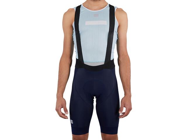 Sportful Bodyfit Pro LTD Spodnie rowerowe na szelkach Mężczyźni, niebieski